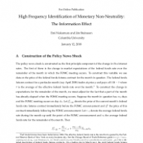 High Frequency Identification of Monetary Non-Neutrality: The Information Effect