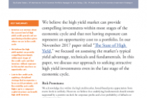High Yield Credit Investing Late in the Cycle