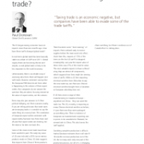 How are trade taxes affecting trade?