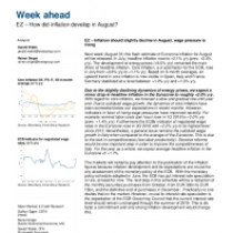How did inflation develop in August?