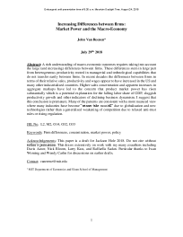 Increasing Differences between firms: Market Power and the Macro-Economy