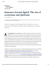 Insurance beyond digital: The rise of ecosystems and platforms