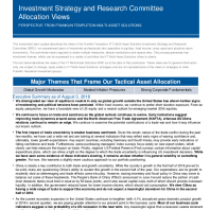 Investment Strategy and Research Committee Allocation Views