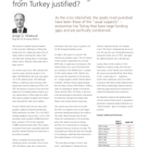 Is global financial contagion from Turkey justified?