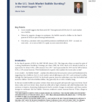 Is the U.S. Stock Market Bubble Bursting?
