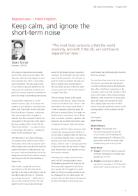 Keep calm, and ignore the short-term noise