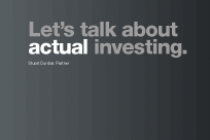 Let's talk about actual investing.