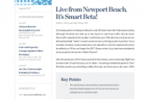 Live from Newport Beach. It's Smart Beta!