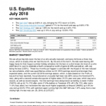 Market Attributes: U.S. Equities July 2018