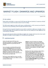Market Flash: Onwards And Upwards