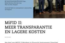 Mifid 2: Meer transparantie en lagere kosten