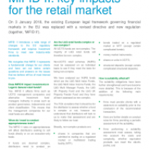 MiFID II: key impacts for the retail market