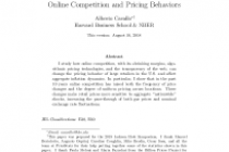 More Amazon Effects: Online Competition and Pricing Behaviors