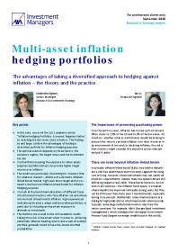 Multi-asset inflation hedging portfolios
