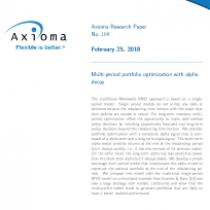 Multi-period portfolio optimization with alpha decay