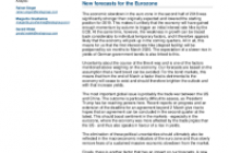 New forecasts for the Eurozone