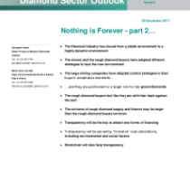Nothing is Forever – part 2…