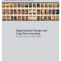 Organizational Design and Long-Term Investing