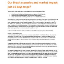 Our Brexit scenarios and market impact: just 10 days to go?