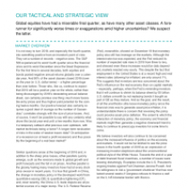 Our Tactical And Strategic View