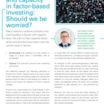 Overcrowding and capacity in factor-based investing: Should we be worried?