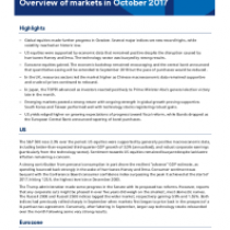 Overview of markets in October 2017