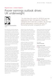 Poorer earnings outlook drives UK underweight