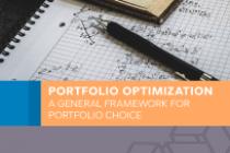 Portfolio optimization: a general framework for portfolio choice