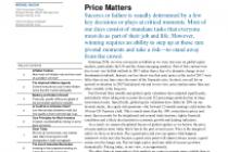 Price Matters