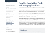 Pundits Predicting Panic in Emerging Markets