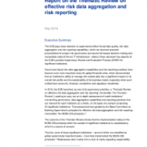 Report on the Thematic Review on effective risk data aggregation and risk reporting