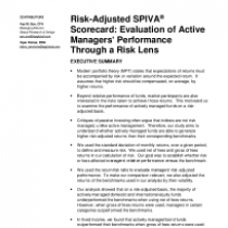Risk-Adjusted SPIVA Scorecard: Evaluation of Active Managers' Performance Through a Risk Lens; Year-End 2017