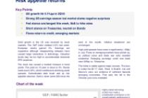 Risk appetite returns