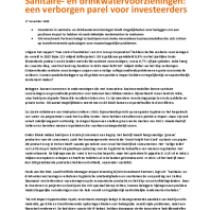 Sanitaire- en drinkwatervoorzieningen: een verborgen parel voor investeerders