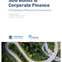 SDG Bonds & Corporate Finance A Roadmap to Mainstream Investments