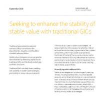 Seeking to enhance the stability of stable value with traditional GICs