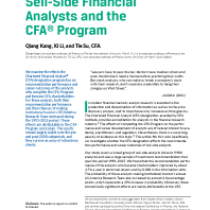 Sell-Side Financial Analysts and the CFA® Program