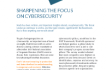 Sharpening the Focus on Cybersecurity