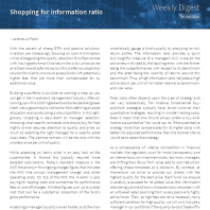 Shopping for information ratio