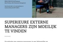 Superieure externe managers zijn moeilijk te vinden