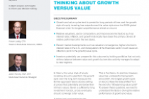 Tactical asset allocation: thinking about growth versus value