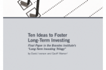 Ten Ideas to Foster Long-Term Investing