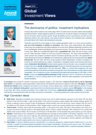 The dominance of politics: investment implications