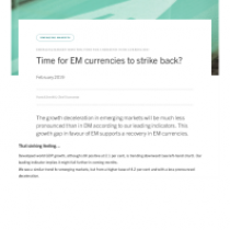 The EM currencies strike back?