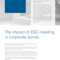 The impact of ESG investing in corporate bonds