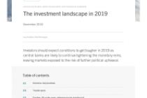 The investment landscape in 2019