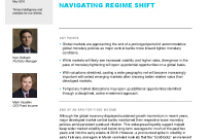 The long unwinding road – navigating regime shift