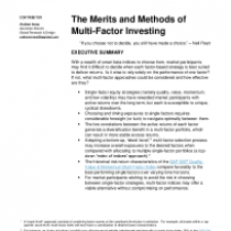 The Merits and Methods of Multi-Factor Investing