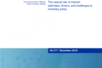 The natural rate of interest: estimates, drivers, and challenges to monetary policy