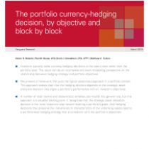 The portfolio currency-hedging decision, by objective and block by block